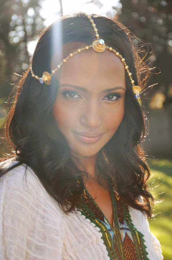 Eritrean woman named Helena wearing traditional clothes